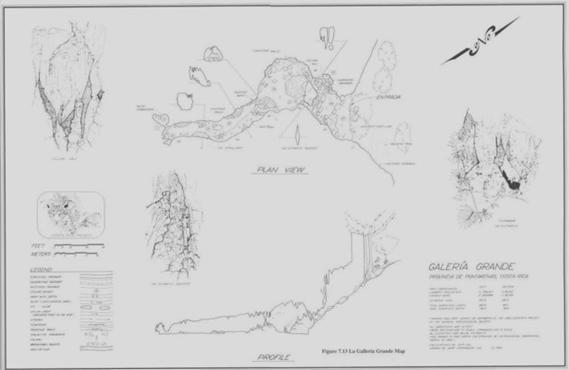 Plano de la Caverna Gran Galeria